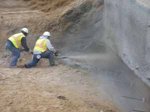 Shotcrete installation in Michigan & Indiana
