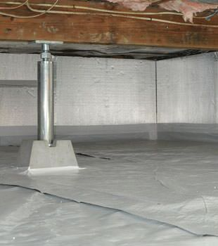 Installed crawl space insulation in Cadillac