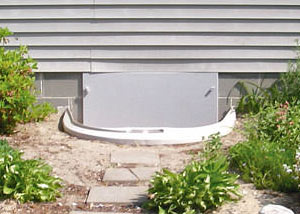 Rigid Plastic Crawl Space Access Well Installed In A Kalamazoo Crawl Space  Illustration Of An Exterior ...