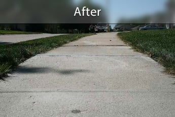 Fixing sunken concrete with PolyLevel® in Grand Rapids