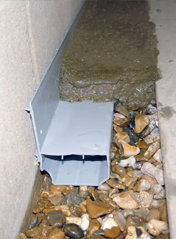 WaterGuard® weeping tile system for problems with flooded basements.