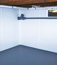 Plastic basement wall panels installed in a Alpena, Michigan home